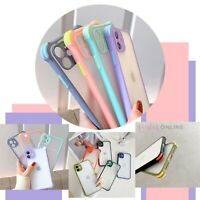 Cute Soft Pastel Edge Colour Back Case For iPhone 8 XS MAX XR 11 12 MINI PRO MAX