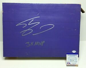 "Shaquille O'Neal Signed 17x12 Original Game Used Staples Floor ""3x MVP"" PSA"