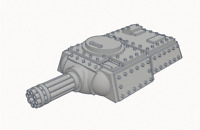 Heavy Tank Turret with Gatling Cannon Triple Squadron Pack (Culverin Models)