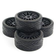 4Pcs Flat Off-Road Tires Wheel Rims For HPI Racing RC 1:8 Buggy Car 22046+26010