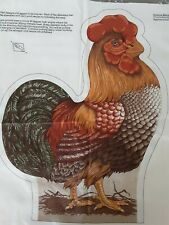 Vintage Cranston Print Works Farmlife Collection Rooster Cloth Pattern Fabric