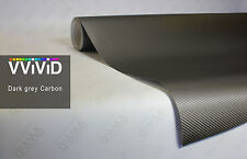 "3ft x 60"" 3D dark grey carbon fiber vinyl car wrap sheet roll film sticker decal"