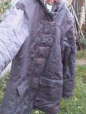 Parka violette esprit duffle-coat à capuche doublée fausse fourrure fille 14 ans