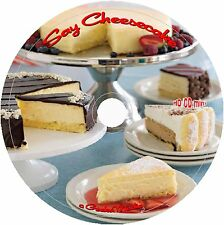 Cheesecake Recipe Collection CD Cookbook easy baking sour cream cake dessert