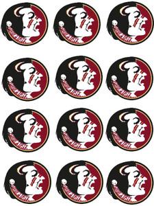 "Florida State Seminoles Cupcake Toppers Edible Image 2"" Frosting Circles"