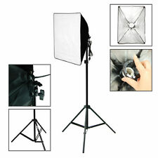 2SET 200W Continuous Bulb Studio Video Light Stand Softbox Photography Lighting