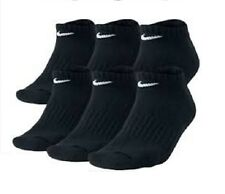 NIKE MEN'S BLACK CUSHIONED NO-SHOW SOCKS - L (Shoe Size 8-12) - 6 PACK