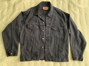 Levi's Men's Denim Jacket  70507 0270 Trucker Black # Medium, Made In USA