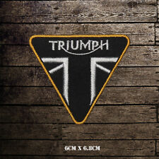 Triumph Motorcycle Logo Bikers Embroidered Iron On Sew On Patch Badge