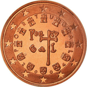 [#775738] Portugal, 5 Euro Cent, 2004, BE, FDC, Copper Plated Steel, KM:742