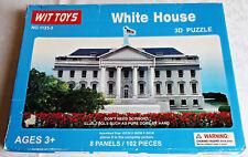 Wit Toys White House 3D Puzzle 102 foam core pieces new # 1123-3 Washington