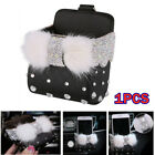 Bling Black Car Air Conditioner Outlet Storage Box Hanging Bag Cell Phone Holder photo