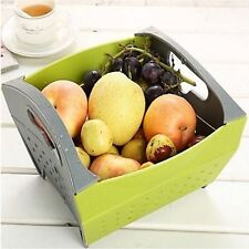 Snapfold Folding Kitchen Sink Colander Drainer Strainer Vegetable Fruit Basket