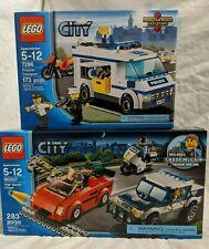NEW LEGO 60007 7286 City High Speed Chase Prisoner Transport 2 Set Lot Bundle
