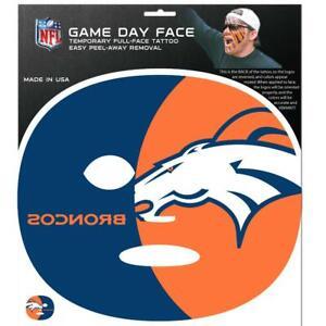 Denver Broncos Game Face Temporary Tatoo [NEW] NFL Paint Tat Decal Sticker