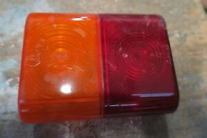 Rubbolite red Amber Indicator lens 6576 Vintage Classic truck lorry