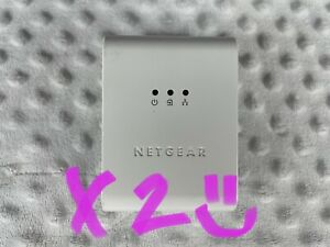 Lot Of (2) Netgear XET1001 85 Mbps Wall-Plugged Ethernet Adapters/Cables