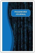 Black Blue Large Print Internet Password Book Keeper Website Journal Login