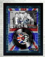SEX PISTOLS God Save The Queen MUSIC  SIGNED FRAMED PHOTO LP Vinyl  perfect gift