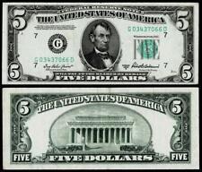 1950-B $5 DOLLAR BILL  FEDERAL RESERVE ~GREEN SEAL~~ XF