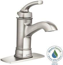 1-Handle Bathroom Faucet Sink Single Hole Spot Resist Brushed Nickel Microban