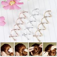 10 Stück Spiral Twist Haarnadeln Spin Clips Brötchen StickPick für DIY FriWCH