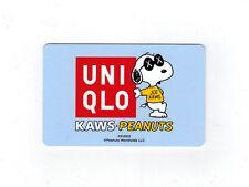 UNIQLO KAWS PEANUTS SNOOPY GIFT CARD (No Balance Value) JAPAN Limited