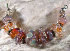 LGL- Handmade Boro Lampwork Beads, SRA - DESERT SUN - Nc1164, Jewelry & Craft
