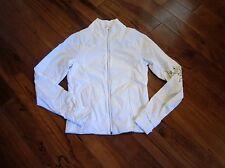 LULULEMON sportif rain jacket in white size 4 water resistant design on sleeve