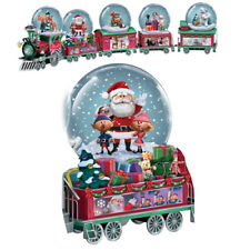 Rudolph The Red Nosed Reindeer North Pole Water Snow Globe Dome Train # 2 Only