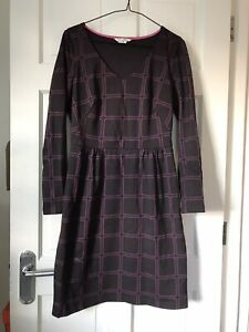 Ladies Boden Mulberry/Pink Print Dress Size 12