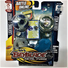 HASBRO Beyblade METAL FUSION LIGHTNING L-DRAGO 100HF vs EARTH WOLF 105WD Figure