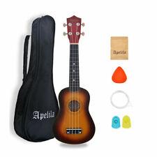 21 inch Soprano Ukulele Hawaiian Acoustic Musical Guitar Strings Instrument Bag