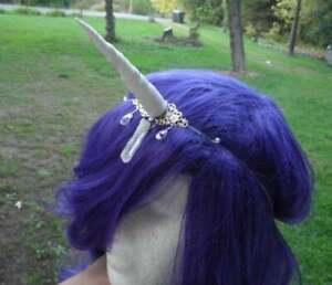 Unicorn Horn Headband White, Crystal, Halloween, Costume, Silver  sexy goddess
