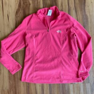 North Face Fleece Pullover, Women's XL. Pink Coral