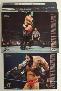 2010 Topps WWE - Favorite Finishers! Trading Card Set of 25