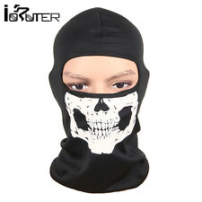 Head Face Mask Skull Balaclava Head Mask Ghost Hood for Cycling Motorcycle Black