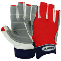 AZURE Sailing Gloves,Yachting  Boating Amara Neoprene,Strong Stitching RED-C/F L