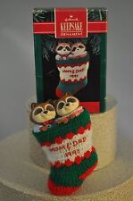 Hallmark - Mom and Dad - Racoons in Stocking - Keepsake Classic Ornament