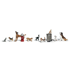 Woodland Scenics A2140 N Gauge Dogs & Cats