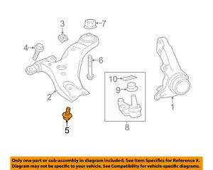 TOYOTA OEM Front Suspension-Lower Ball Joint Bolt 90105A0227