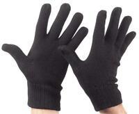 Acrylic Stretch Knit Glove Black One size fits most Warm Winter Work Ski Knitted