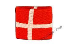 WRISTBAND Denmark Flag SWEATBAND 7x8cm