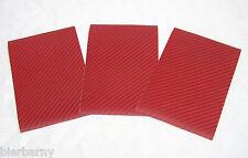 Carbon Folie 3D Struktur Rot Matt Selbstklebend 3 Blatt Modellbau Tuning NEU