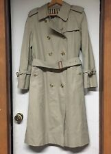 BURBERRY Women's Beige Double Breasted Collared Trench Coat Rain Brit US 8 Long