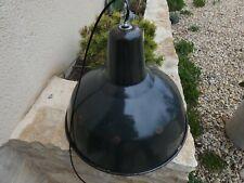 Lampe Industrielle Gamelle Suspension Métal Tôle émaillée 1960 Atelier Usine