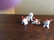 Lustre ware, Set of 4 Miniature Dogs, Japan circa 1910-1940