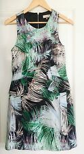 PORTMANS SIGNATURE WOMENS DRESS LINED FLORAL PEPLUM WORK PARTY SZ 10