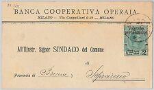 ITALIA REGNO: storia postale - Sass 53 ISOLATO su CIRCOLARE  da MILANO 1891