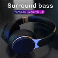 Bluetooth Headphones Stereo Bass Headset Wireless Foldable w/Mic Earphone KY